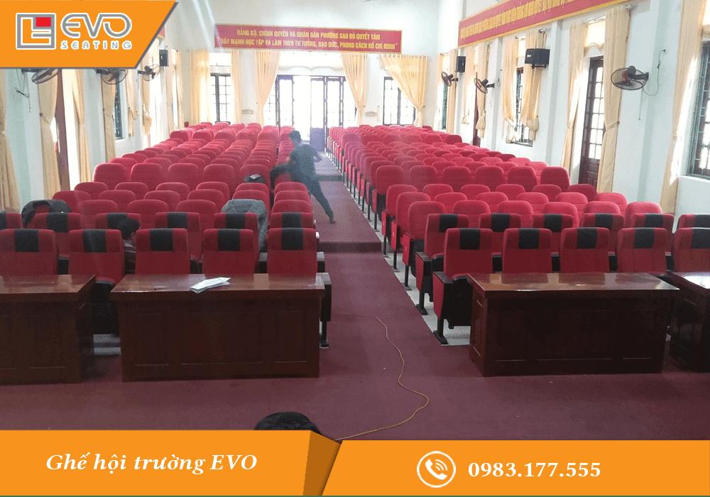 Dự án ghế hội trường tại Phường Sao Đỏ - Chí Linh - Hải Dương (1)