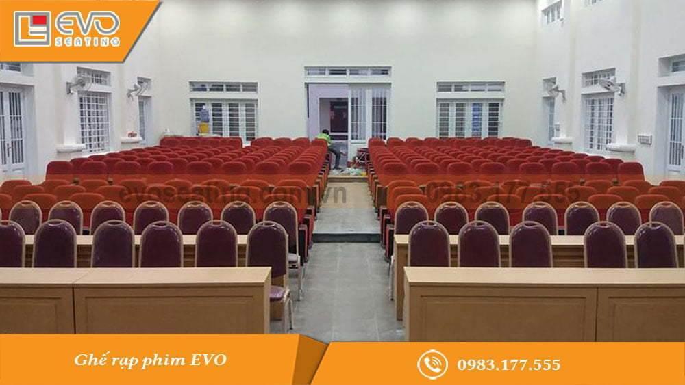 Toàn cảnh hội trường nhà văn hóa xã Sơn Tân - Hà Tĩnh
