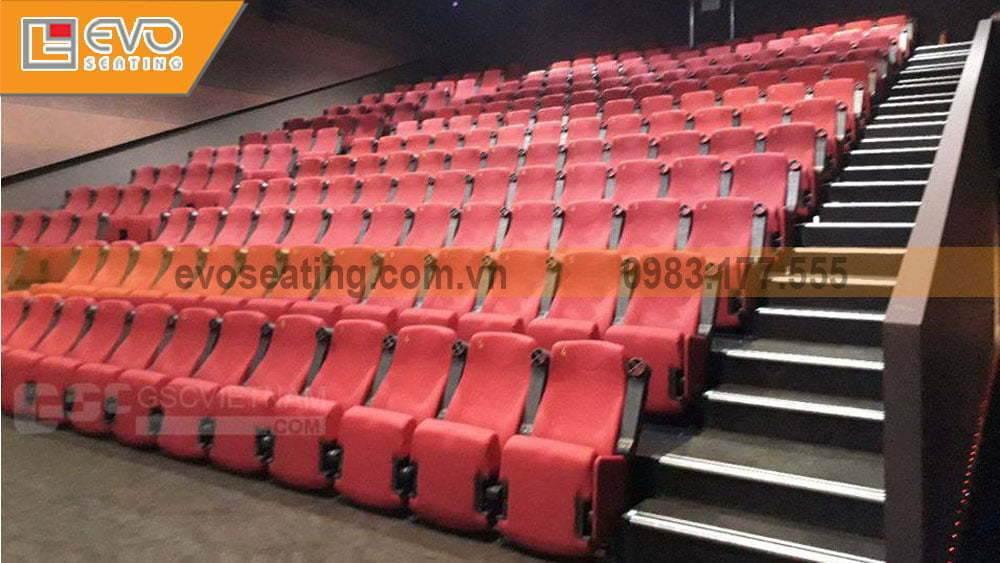 Những hàng ghế nhập khẩu từ dự án ghế rạp chiếu phim Lotte Cinema Hải Dương