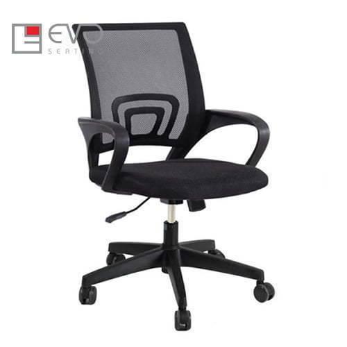 Ghế xoay văn phòng EVO113N, chân nhựa